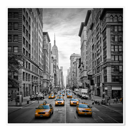 Premiumposter  NEW YORK CITY 5th Avenue Traffic - Melanie Viola