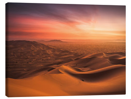 Canvastavla  Desert Sunset - Andreas Wonisch