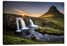 Canvastavla  Fair Tyle Countryside in Iceland - Andreas Wonisch