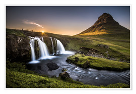 Premiumposter  Fair Tyle Countryside in Iceland - Andreas Wonisch