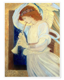 Premiumposter An Angel Playing a Flageolet