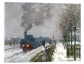 Akrylglastavla  Train in the snow (The Locomotive) - Claude Monet