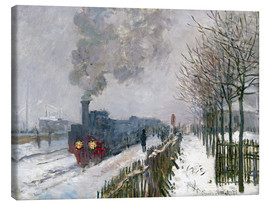 Canvastavla  Train in the snow (The Locomotive) - Claude Monet