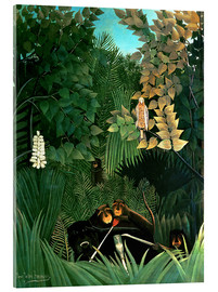 Akrylglastavla  The monkeys - Henri Rousseau