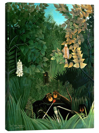 Canvastavla  The monkeys - Henri Rousseau