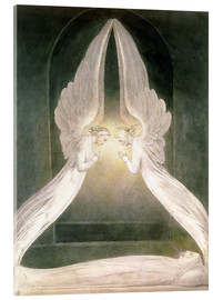 Akrylglastavla  Christ in the Sepulchre, Guarded by Angels - William Blake