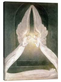 Canvastavla  Christ in the Sepulchre, Guarded by Angels - William Blake