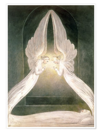 Premiumposter  Christ in the Sepulchre, Guarded by Angels - William Blake