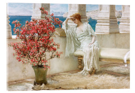Akrylglastavla  Her eyes are with her thoughts and they are far away - Lawrence Alma-Tadema