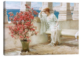 Canvastavla  Her eyes are with her thoughts and they are far away - Lawrence Alma-Tadema