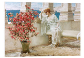 PVC-tavla  Her eyes are with her thoughts and they are far away - Lawrence Alma-Tadema