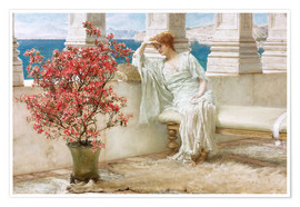 Premiumposter  Her eyes are with her thoughts and they are far away - Lawrence Alma-Tadema