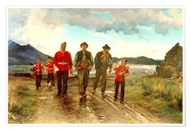 Premiumposter  'Listed for the Connaught Rangers': Recruiting in Ireland, 1878 - Lady Butler
