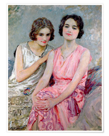 Premiumposter Two Young Women Seated