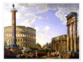 Premiumposter Roman Capriccio Showing the Colosseum