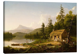 Canvastavla  Home in the Woods - Thomas Cole