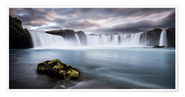 Premiumposter  Godafoss Waterfall in Iceland - Andreas Wonisch