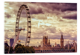 Akrylglastavla  London Eye & Big Ben - Stefan Becker