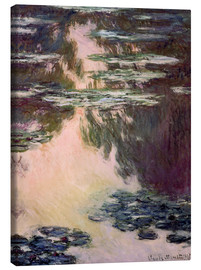 Canvastavla  Waterlilies with Weeping Willows - Claude Monet