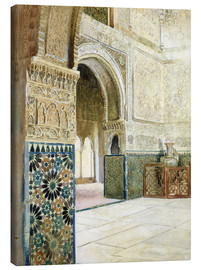 Canvastavla  Interior of the Alhambra, Granada - French School