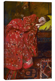Canvastavla  The Red Kimono - Georg-Hendrik Breitner