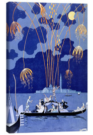 Canvastavla  Fireworks in Venice, Fetes Galantes - Georges Barbier
