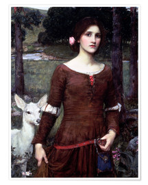 Premiumposter  Lady Clare - John William Waterhouse