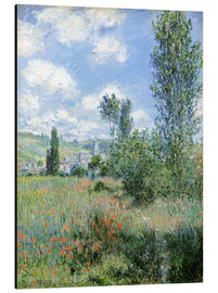 Aluminiumtavla  Path Through the Poppies, Île Saint-Martin, Vetheuil - Claude Monet