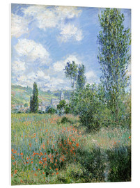 PVC-tavla  Path Through the Poppies, Île Saint-Martin, Vetheuil - Claude Monet