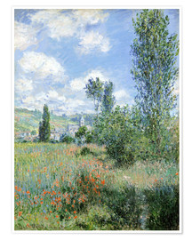 Poster  Path Through the Poppies, Île Saint-Martin, Vetheuil - Claude Monet