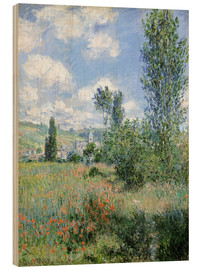Trätavla  Path Through the Poppies, Île Saint-Martin, Vetheuil - Claude Monet