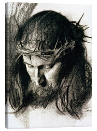 Canvastavla  Head of Christ - Franz von Stuck