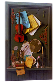 PVC-tavla  The Old Cupboard Door - William Michael Harnett