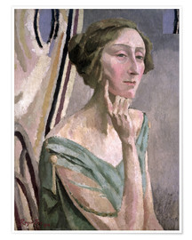 Premiumposter Portrait of Edith Sitwell , 1915