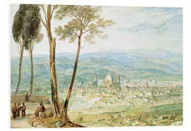 PVC-tavla  Florence from the road to Fiesole - Joseph Mallord William Turner