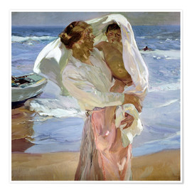 Premiumposter  Just Out of the Sea - Joaquín Sorolla y Bastida