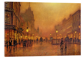 Akrylglastavla  A street at night - John Atkinson Grimshaw