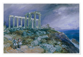 Premiumposter Temple of Poseidon, Sunium, 1877