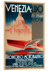 Akrylglastavla  Venezia Lido 1930 - Travel Collection
