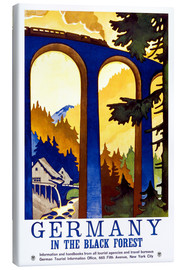 Canvastavla  Germany, in the black forest - Travel Collection