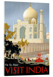 Akrylglastavla  Indien - Taj Mahal - Travel Collection