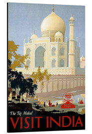 Aluminiumtavla  Indien - Taj Mahal - Travel Collection