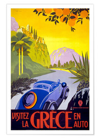Premiumposter  Visit Greece with car - Travel Collection