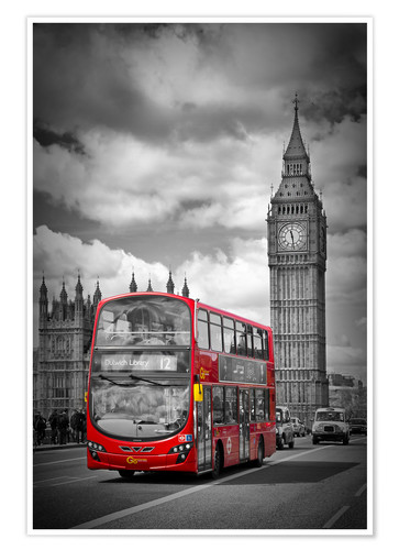 Premiumposter LONDON Red Bus and Big Ben