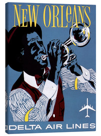Canvastavla  Fly to New Orleans