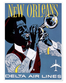 Premiumposter  Fly to New Orleans