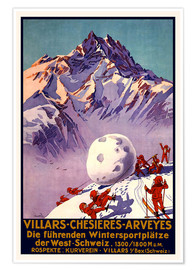 Premiumposter  Winter Sports in Villars, Chesieres and Arveyes - Travel Collection