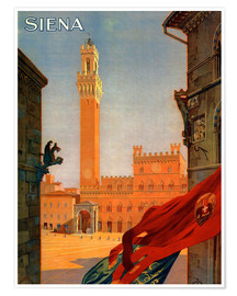 Premiumposter  Siena, Tuscany in Italy - Travel Collection