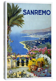 Canvastavla  Italy - Sanremo - Travel Collection