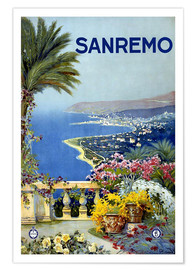 Premiumposter  Italy - Sanremo - Travel Collection